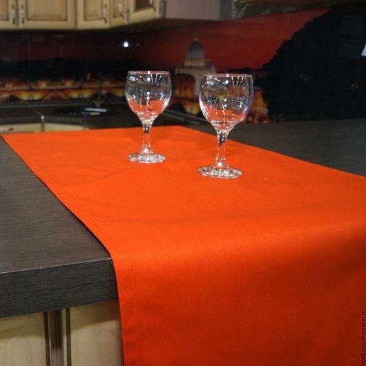 """Текстиль, ковры ручной работы. Ярмарка Мастеров - ручная работа. Купить Дорожка """"Orange"""". Handmade. Оранжевый, сервировка стола, раннер"""