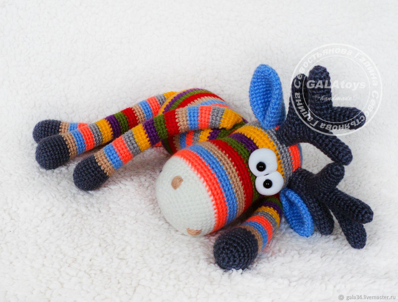 Striped Elk (50cm) knitted toy, Stuffed Toys, Volgograd,  Фото №1