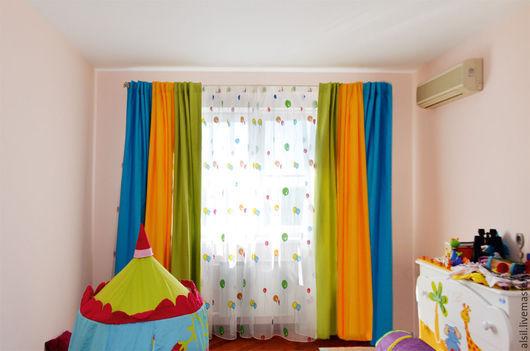 Текстиль, ковры ручной работы. Ярмарка Мастеров - ручная работа. Купить Шторы для детской для дошкольника. Handmade. Шторы, шторы на заказ