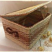 """Для дома и интерьера ручной работы. Ярмарка Мастеров - ручная работа Плетёный короб """"Эко"""". Handmade."""