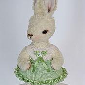 Куклы и игрушки ручной работы. Ярмарка Мастеров - ручная работа Тедди зая, кролик Эля. 12см.. Handmade.