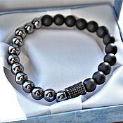 Украшения handmade. Livemaster - original item Bracelet with Hematite. Handmade.