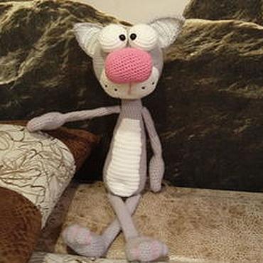 Куклы и игрушки ручной работы. Ярмарка Мастеров - ручная работа Игрушка мягкая кот вязаный. Handmade.