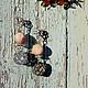 Серьги ручной работы. Серьги с подвеской из натурального родонита цвета чайной розы.. Mashuta_jewelry. Ярмарка Мастеров. Купить серьги сваровски