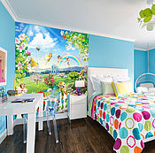 Дизайн и реклама ручной работы. Ярмарка Мастеров - ручная работа Обои для детской комнаты - Дворец с феями. Handmade.