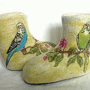 """Обувь ручной работы. Ярмарка Мастеров - ручная работа Валенки """"Попугайчики"""". Handmade."""