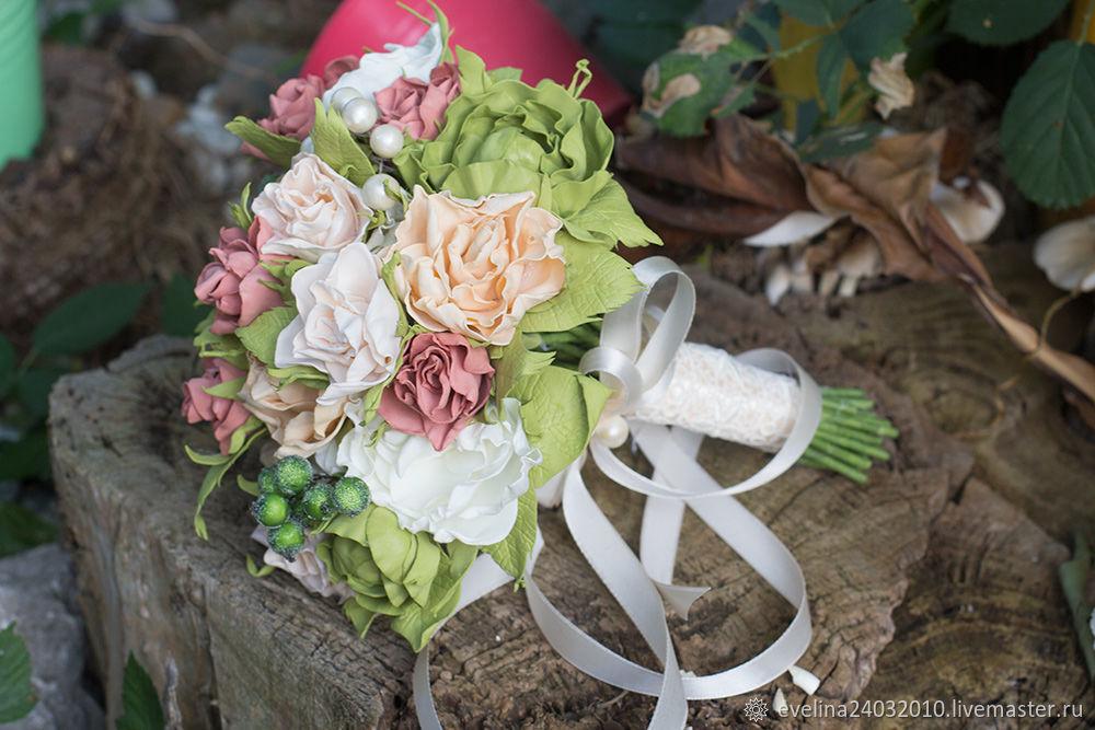 Свадебный букет невесты из фоамирана