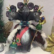 Куклы и игрушки ручной работы. Ярмарка Мастеров - ручная работа Мышиный король игрушка на ёлку. Handmade.