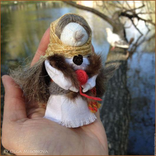 Народные куклы ручной работы. Ярмарка Мастеров - ручная работа. Купить Ёжка в ладошку. Handmade. Баба яга, кукла текстильная