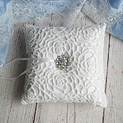 """Свадебный салон ручной работы. Ярмарка Мастеров - ручная работа """"Classic Wed"""" - подушечка для обручальных колец. Handmade."""
