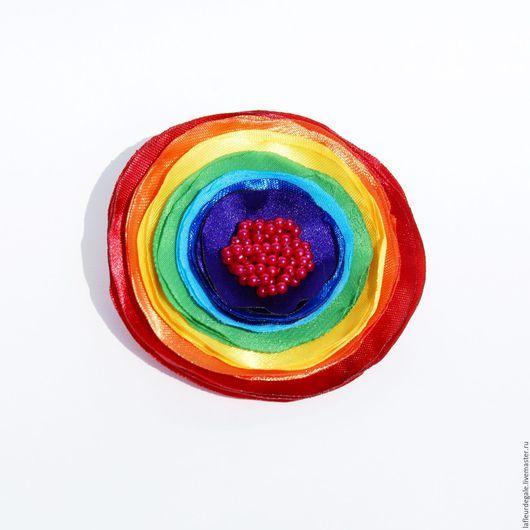 "Броши ручной работы. Ярмарка Мастеров - ручная работа. Купить ""Радужная Натэя"" (""The Rainbow Nateya""). Handmade."