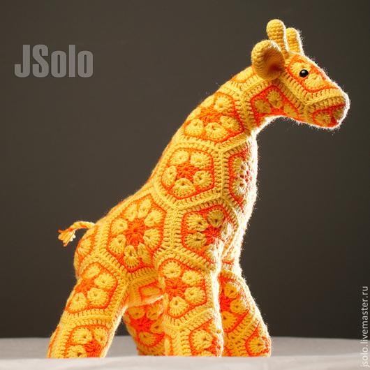Игрушки животные, ручной работы. Ярмарка Мастеров - ручная работа. Купить Жирафик ручной работы. Handmade. Желтый, игрушки