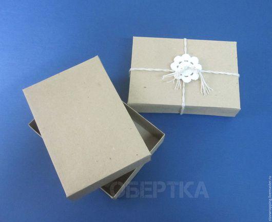 Упаковка ручной работы. Ярмарка Мастеров - ручная работа. Купить Коробка крафт 13х9х3 см крышка-дно. Handmade.