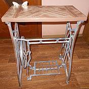 Tables handmade. Livemaster - original item table-console Geometry on a cast iron frame. Handmade.