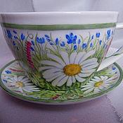 Посуда handmade. Livemaster - original item In daisies (teacups). Handmade.