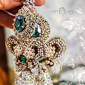 Украшения handmade. Livemaster - original item Wedding earrings angelina. Long earrings with tassels. Handmade.