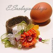 Подарки к праздникам ручной работы. Ярмарка Мастеров - ручная работа Маргаритки (украшение для пасхального яйца). Handmade.