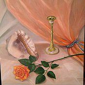 Картины и панно ручной работы. Ярмарка Мастеров - ручная работа натюрморт с подсвечником. Handmade.
