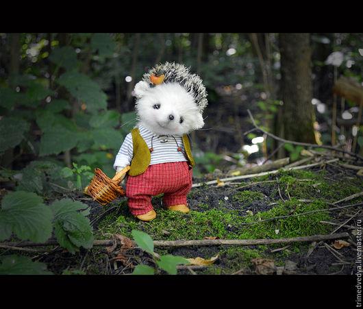 """Мишки Тедди ручной работы. Ярмарка Мастеров - ручная работа. Купить """"Сказки старого леса"""": Рэнди. Handmade. Чёрно-белый"""