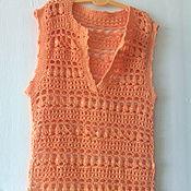 """Одежда ручной работы. Ярмарка Мастеров - ручная работа Топ """"Оранжевое настроение"""". Handmade."""