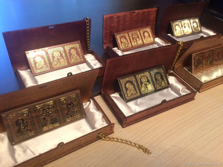 Триптих, автоикона в подарочной упаковке, Иконы, Ярославль,  Фото №1