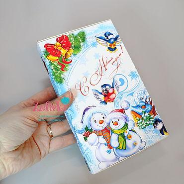 Сувениры и подарки ручной работы. Ярмарка Мастеров - ручная работа Конфеты Toffifee в коробочке на новый год подарки коллегам. Handmade.