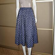 Одежда ручной работы. Ярмарка Мастеров - ручная работа Юбка МИДИ джинсовка плательная летняя синяя. Handmade.