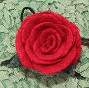 """Украшения ручной работы. Ярмарка Мастеров - ручная работа Брошь """"Роза красная"""". Handmade."""