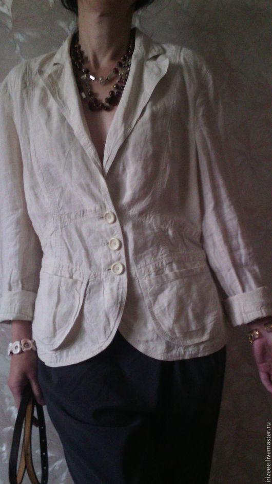 Пиджаки, жакеты ручной работы. Ярмарка Мастеров - ручная работа. Купить жакет светлый Рами. Handmade. Белый, жакет бохо