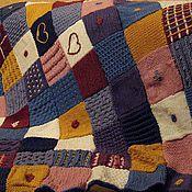 Пледы ручной работы. Ярмарка Мастеров - ручная работа Плед вязаный спицами В стиле пэчворк. Handmade.