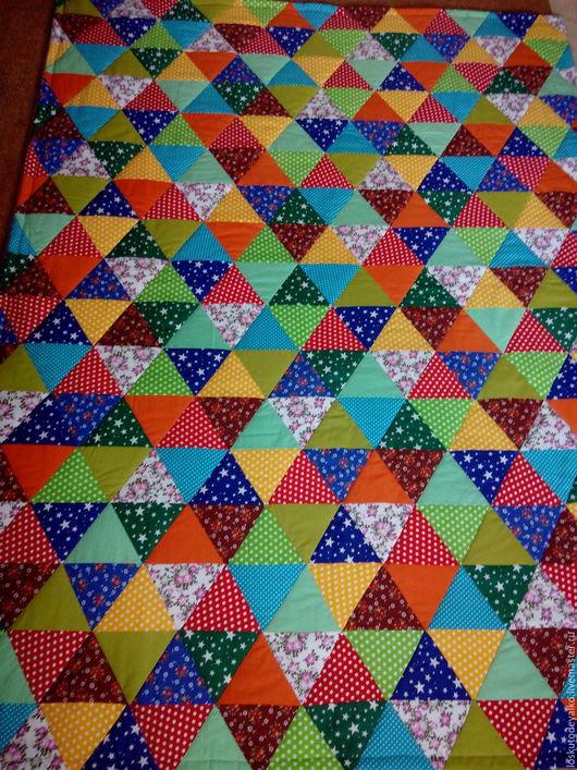 Текстиль, ковры ручной работы. Ярмарка Мастеров - ручная работа. Купить Лоскутное одеяло ВИТРАЖ. Handmade. Лоскутное одеяло, лён