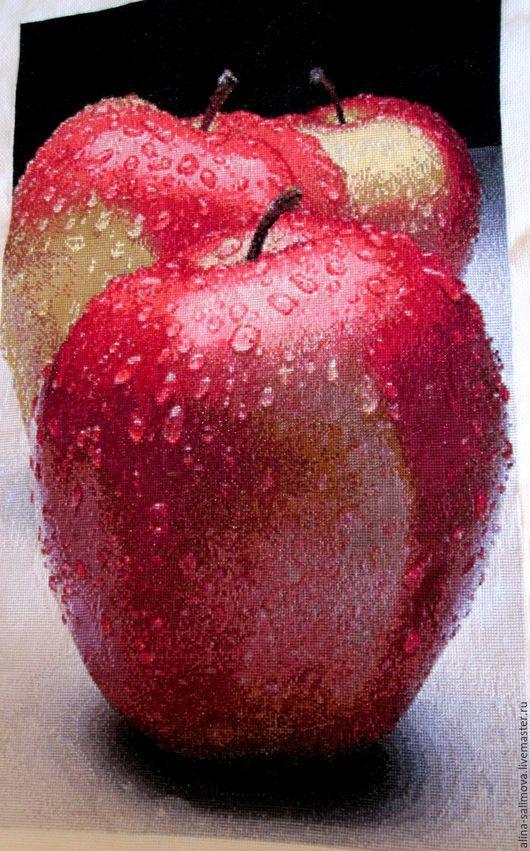 Вышивка `Яблоки`, Алина