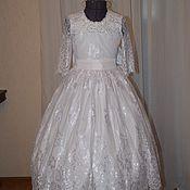 Работы для детей, ручной работы. Ярмарка Мастеров - ручная работа Нарядное платье 8 ( белоснежное). Handmade.
