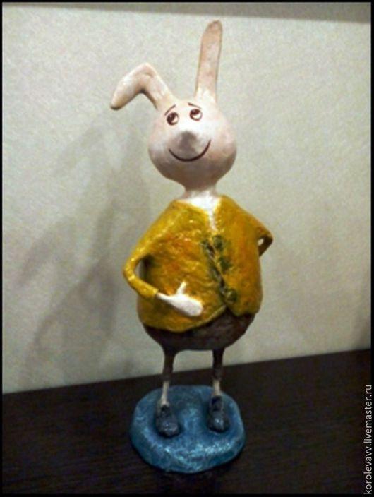 Коллекционные куклы ручной работы. Ярмарка Мастеров - ручная работа. Купить Заяц 3. Handmade. Комбинированный, Папье-маше, зайчик