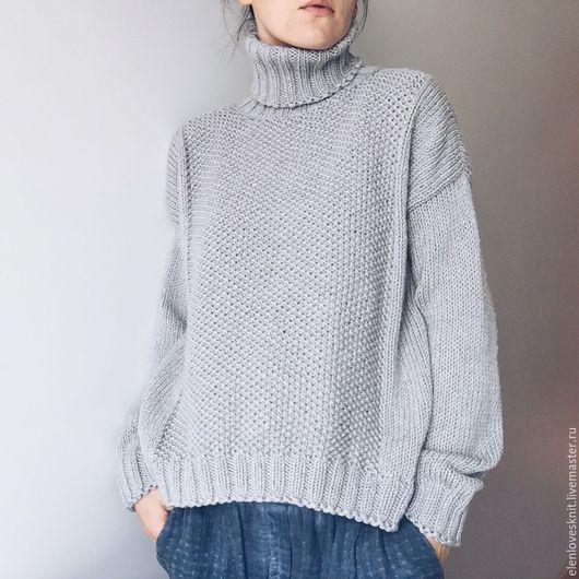 Вязание ручной работы. Ярмарка Мастеров - ручная работа. Купить схема свитера ComfortGrey. Handmade. Серый, вязание, свитер спицами