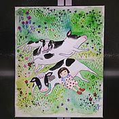 Картины и панно ручной работы. Ярмарка Мастеров - ручная работа Буренки. Handmade.
