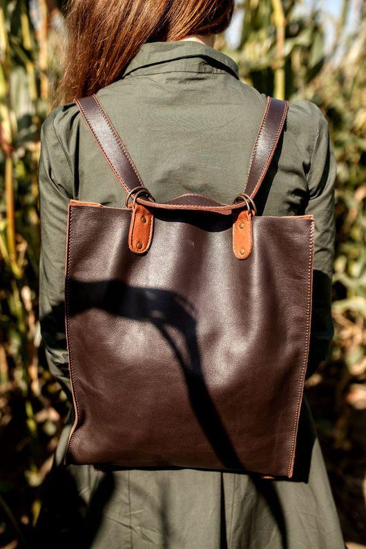 Рюкзаки ручной работы. Ярмарка Мастеров - ручная работа. Купить Рюкзак-трансформер. Handmade. Коричневый, рюкзак, рюкзак из кожи