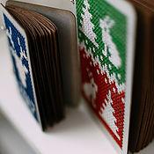 Канцелярские товары ручной работы. Ярмарка Мастеров - ручная работа Блокнот Новогодний. Handmade.