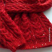 Одежда handmade. Livemaster - original item Jumper female red Ranunculus, knitted, braids, sequins, mohair. Handmade.