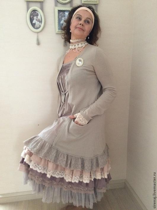 """Платья ручной работы. Ярмарка Мастеров - ручная работа. Купить Платье  """"Мори / Бохо Шик"""" беж. Handmade. Платье"""
