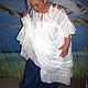 Платья ручной работы. Белое платье-туника с кружевом ЛИЛИЯ. Татьяна. Ярмарка Мастеров. Белое кружево, этно платье