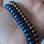 Материалы для творчества handmade. Livemaster - original item Hematite smooth roundels, 11mm, 2 colors. Handmade.