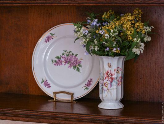 Винтажная посуда. Ярмарка Мастеров - ручная работа. Купить Вазочка фарфоровая.. Handmade. Белый, цветочные мотивы, ваза для цветов