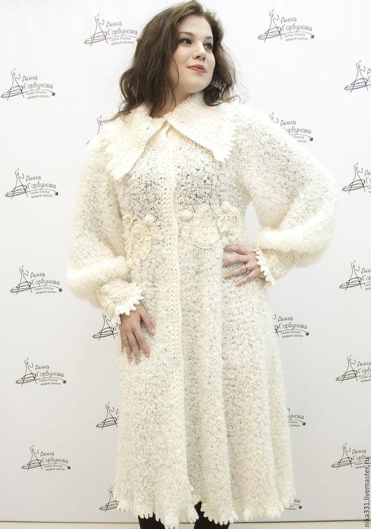 """Верхняя одежда ручной работы. Ярмарка Мастеров - ручная работа. Купить Пальто """"Парижанка"""". Handmade. Белый, Пальто ручной работы"""