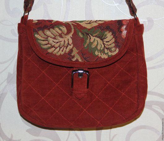 Женские сумки ручной работы. Ярмарка Мастеров - ручная работа. Купить Сумка гобелен-вельвет. Handmade. Комбинированный, подкладочная ткань