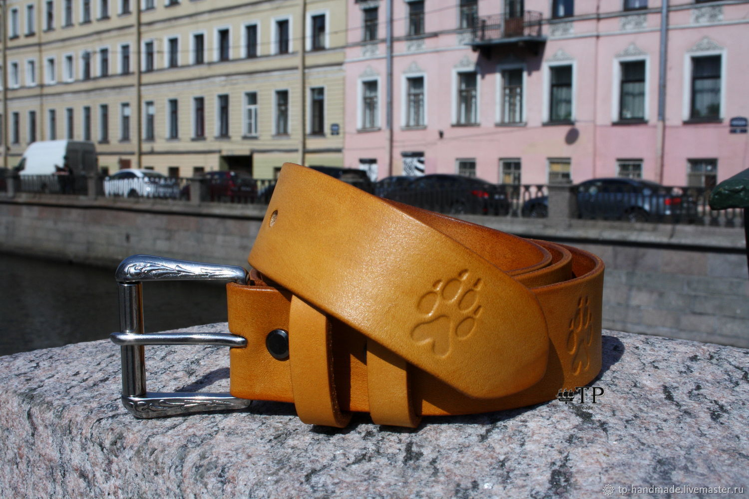 Leather belt ' Red tail', Straps, St. Petersburg,  Фото №1