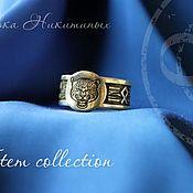 Кольца ручной работы. Ярмарка Мастеров - ручная работа Кольца: Снежный барс тотем ирбис. Handmade.