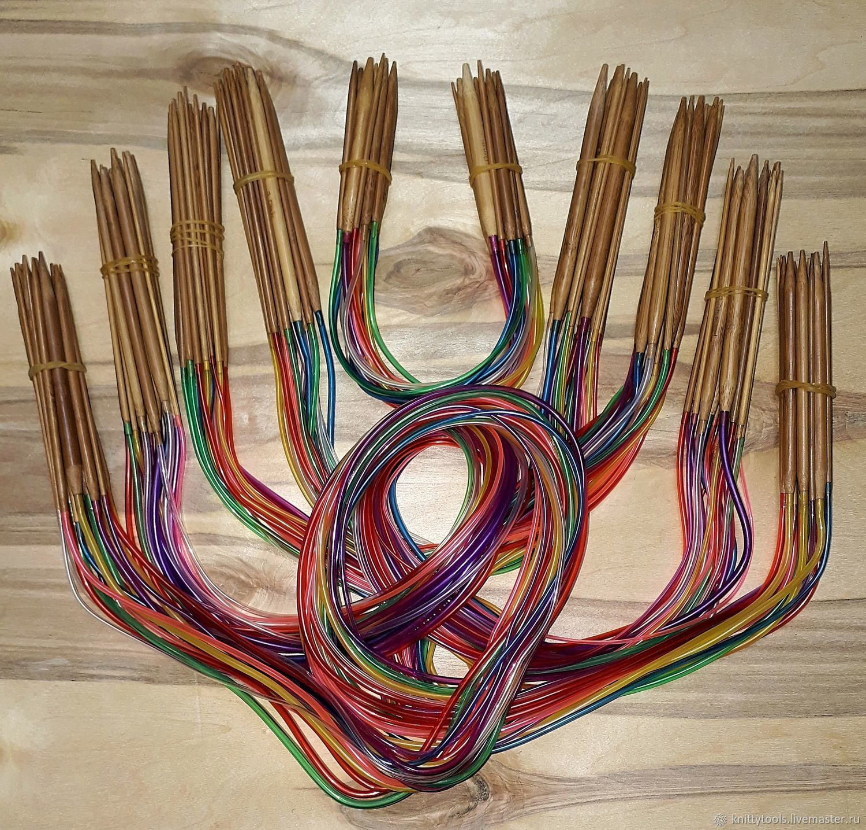 спицы для вязания бамбуковые круговые набор 18 шт купить в