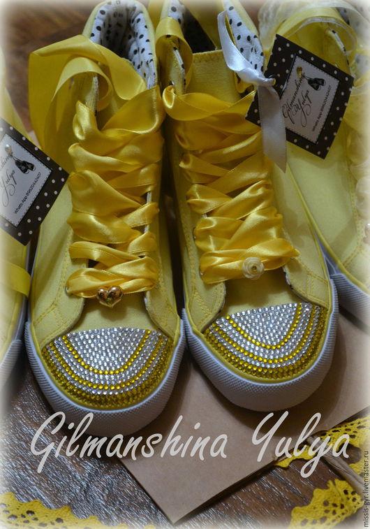 Обувь ручной работы. Ярмарка Мастеров - ручная работа. Купить Лучик. Handmade. Желтый, обувь ручной работы, принцесса, для девушки