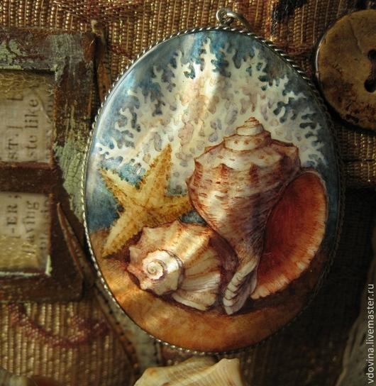 """Кулоны, подвески ручной работы. Ярмарка Мастеров - ручная работа. Купить кулон """"Воспоминания о море"""". Handmade. Море, морской стиль"""